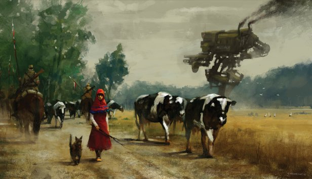 jakub-rozalski-1920-on-the-road-70na50small