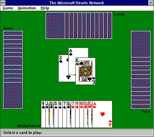 Microsoft-Windows-Hearts-Game