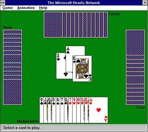 Microsoft-Windows-Hearts-Game